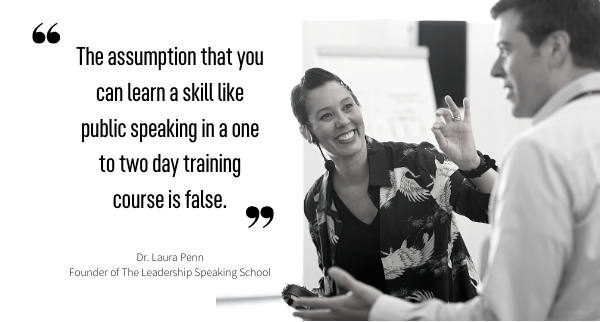 The Leadership Speaking School, Dr. Laura Penn, Switzerland, best presentation skills training, best public speaking course