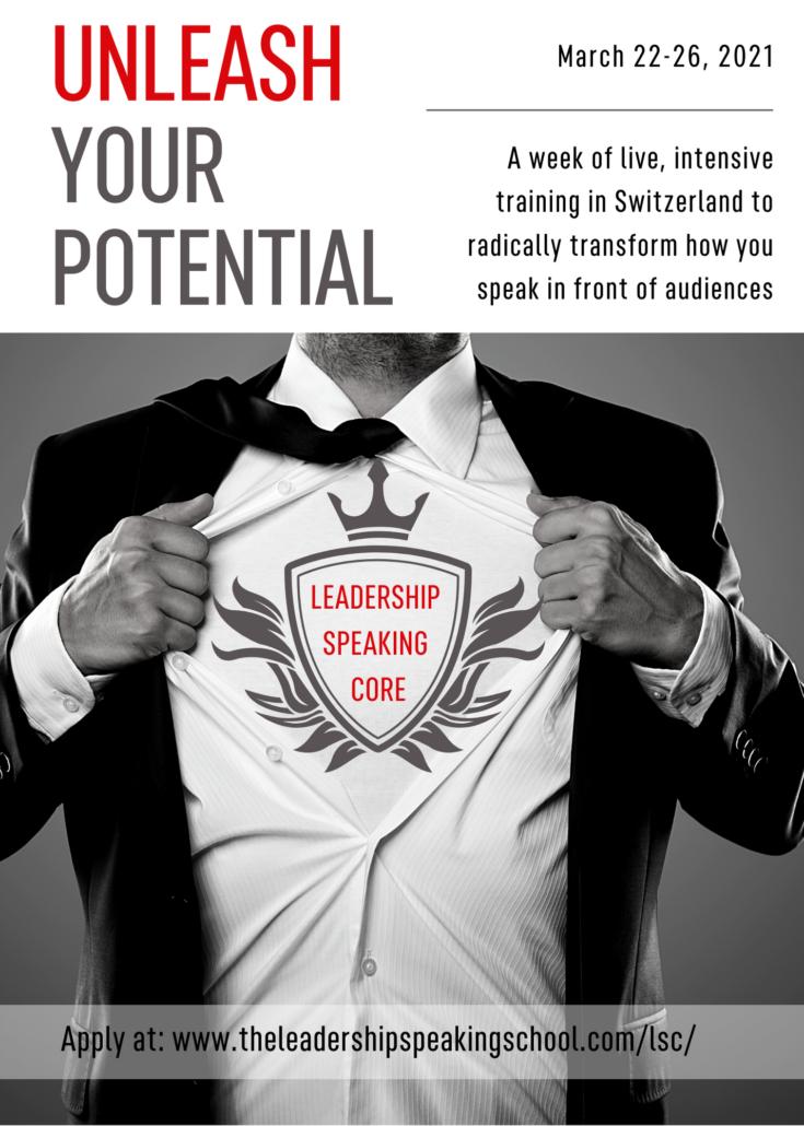 leadership speaking core, best public speaking training, geneva, zurich, switzerland, europe